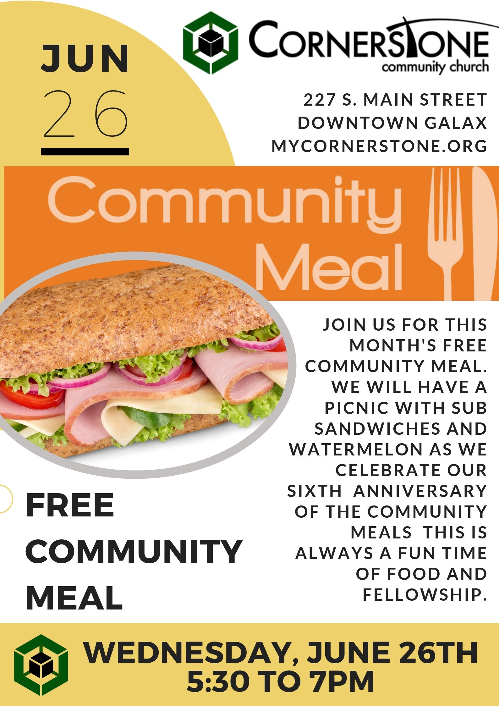 Community Meal Poster