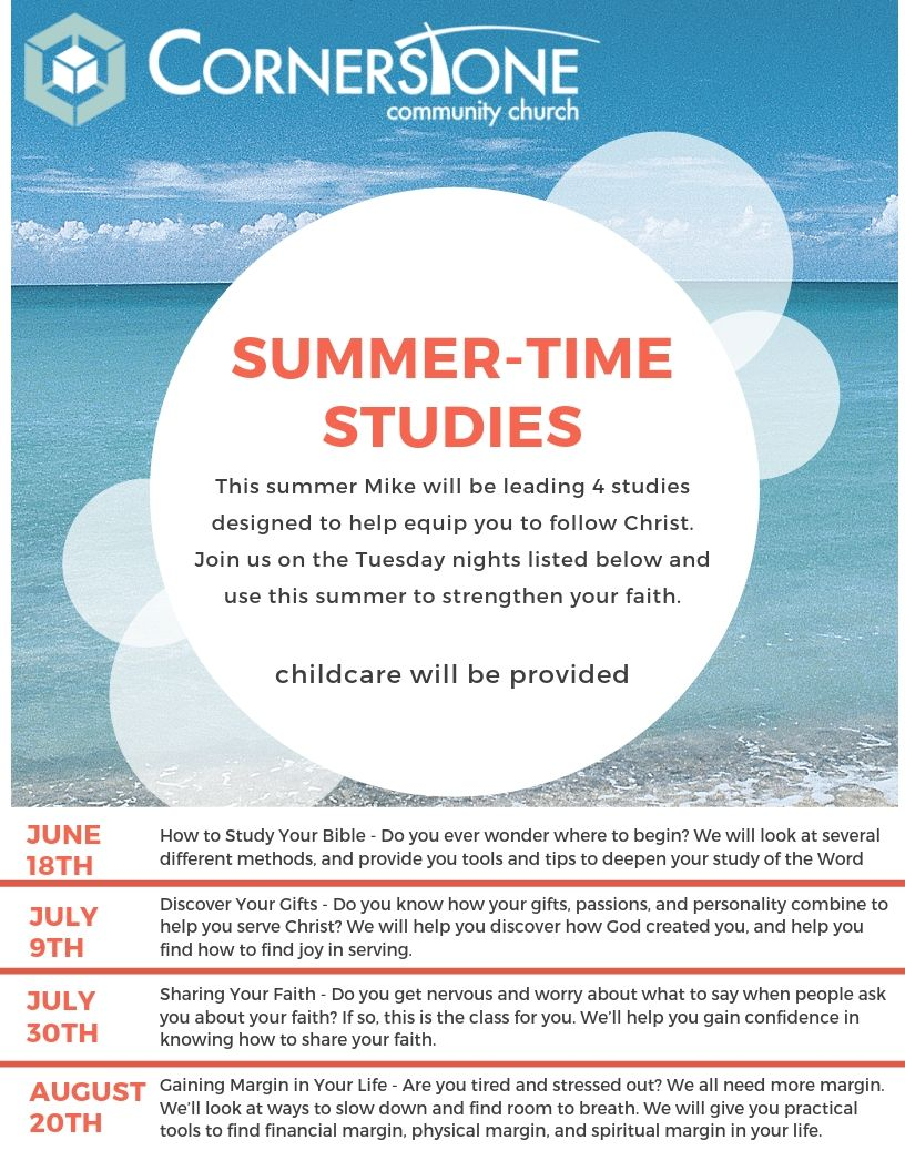 Summer-Time Studies – How To Study the Bible - Cornerstone Community