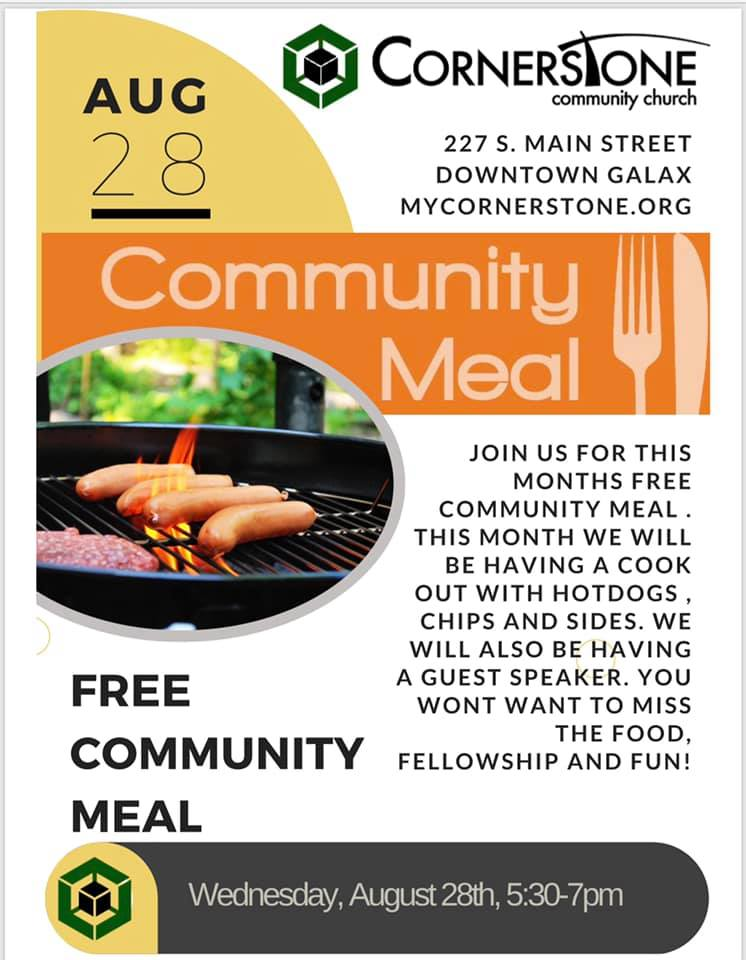 Poster for Community Meal